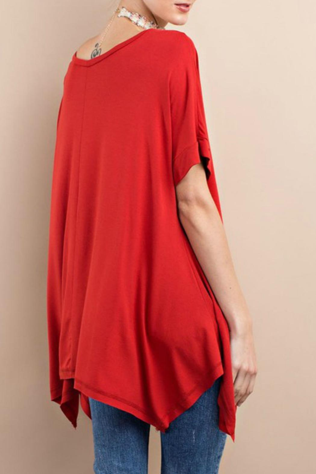 easel Red Tunic - Front Full Image