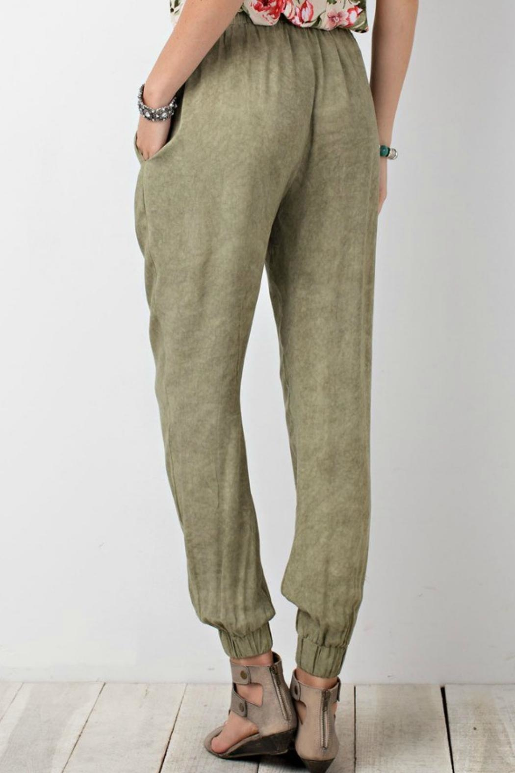 easel Relaxed Challie Pants - Side Cropped Image