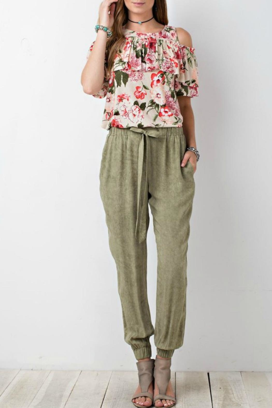 easel Relaxed Challie Pants - Main Image