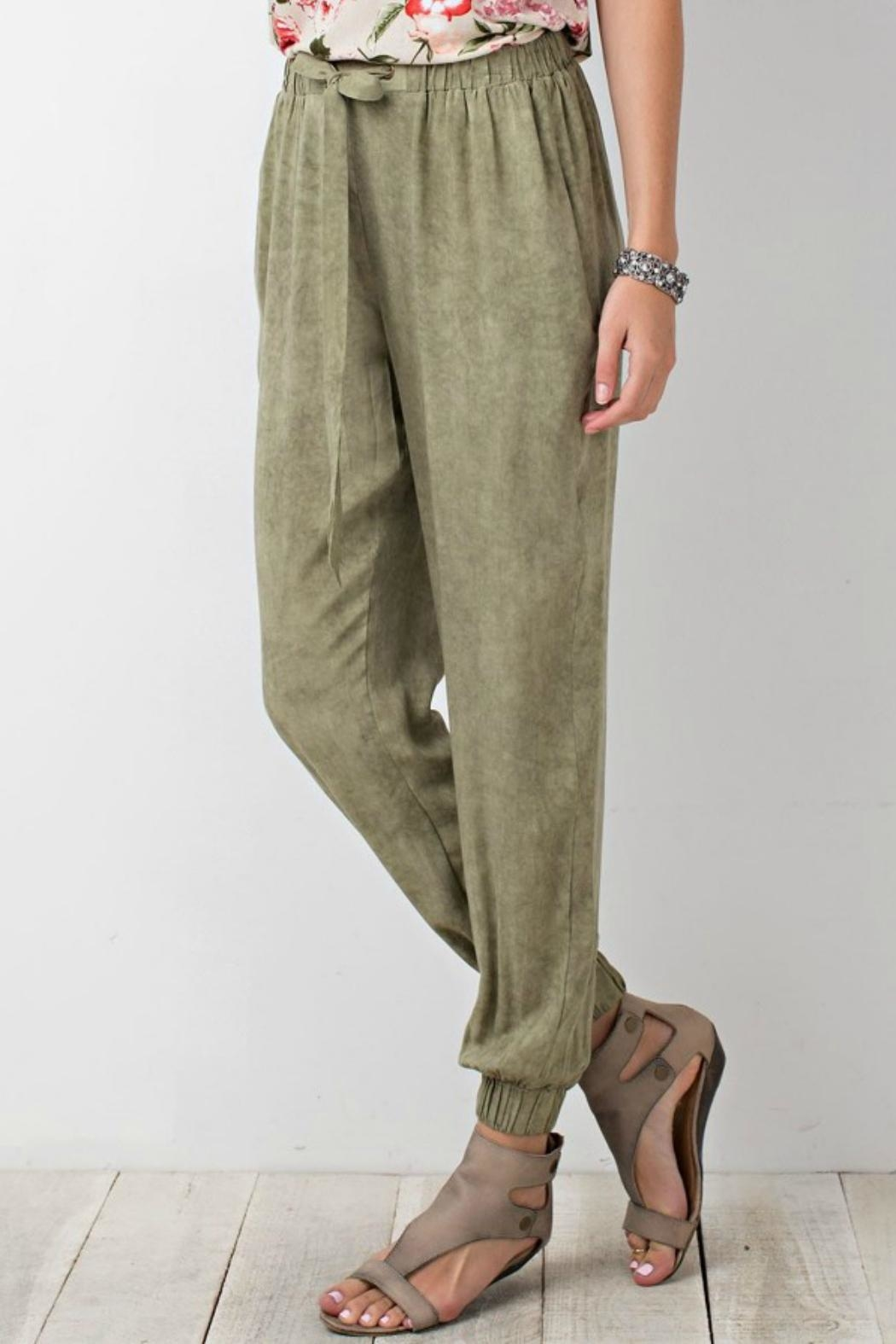 easel Relaxed Challie Pants - Front Full Image
