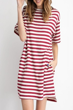 easel Relaxed Striped Dress - Product List Image