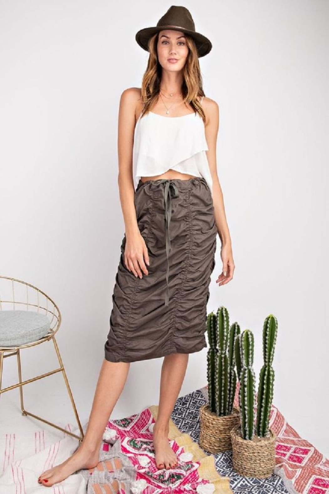 easel Roushed Skirt W/tie - Main Image