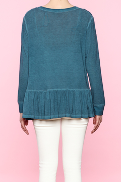 Shoptiques Product: Teal Long Sleeve Top