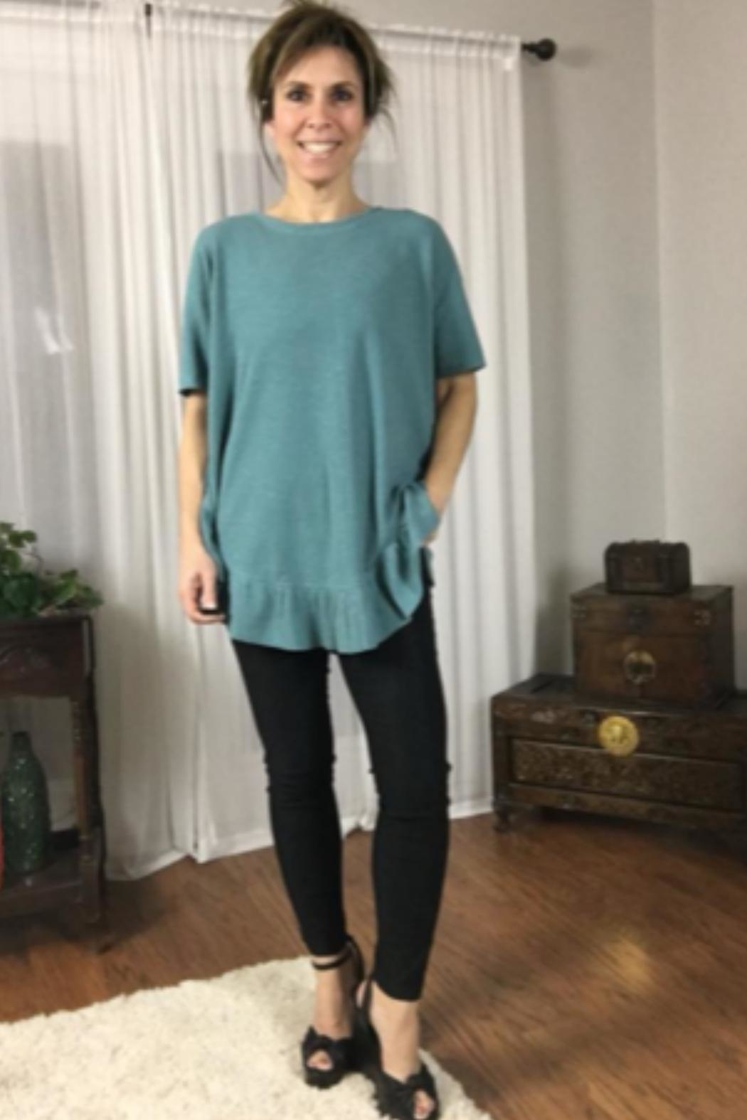 easel Ruffle Poncho Tee - Front Full Image
