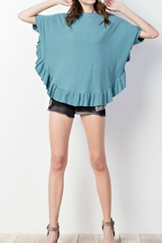 easel Ruffle Poncho Tee - Front cropped
