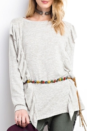 easel Ruffle Sweater - Front full body