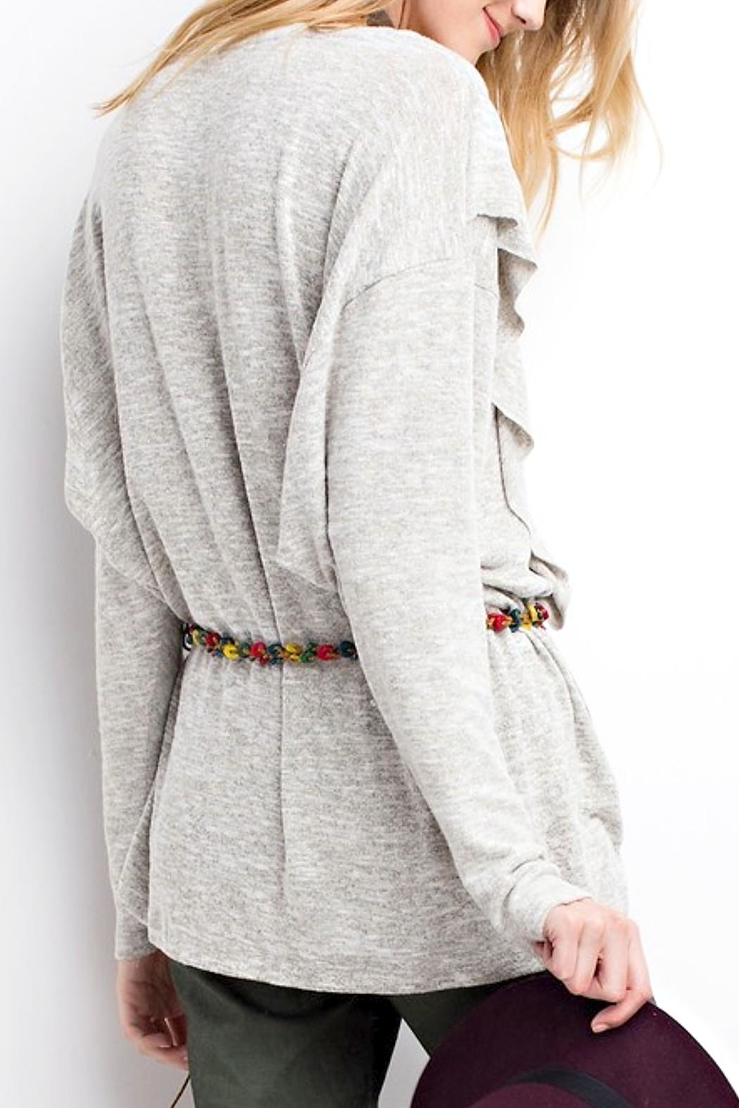 easel Ruffle Sweater - Side Cropped Image