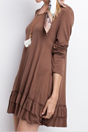 easel Ruffled Long-Sleeved Top - Product Mini Image