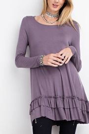 easel Ruffled Long-Sleeved Top - Front cropped