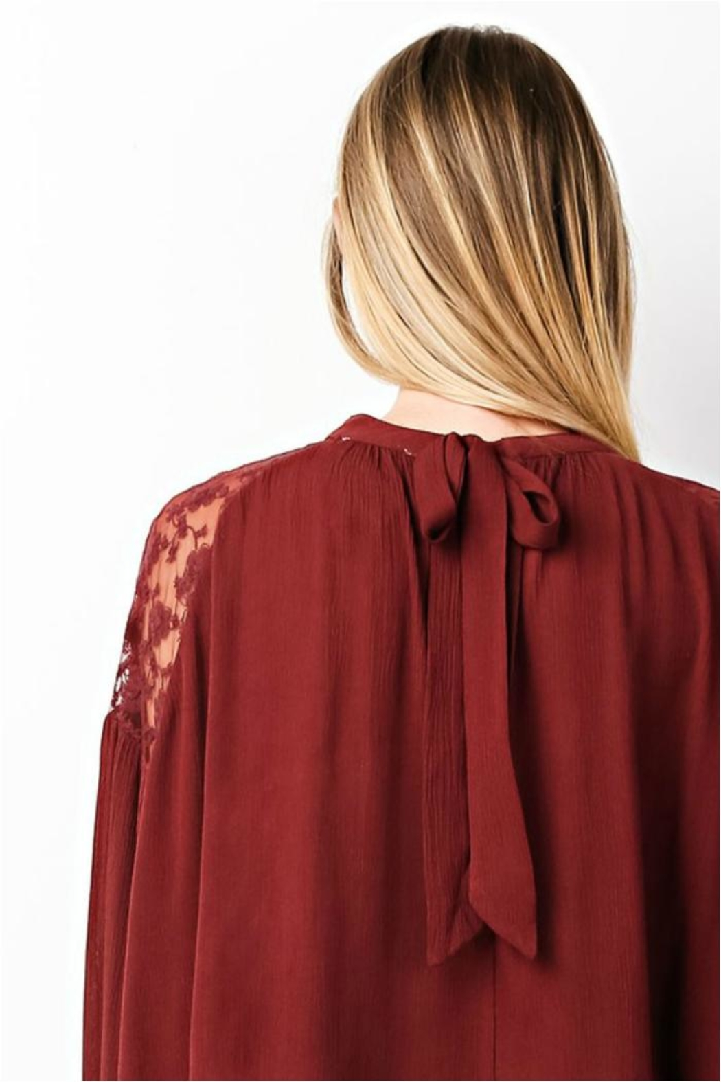 easel Rusty Lace Top - Front Full Image
