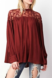 easel Rusty Lace Top - Product Mini Image