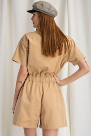 easel Safari Utility Military Cotton Romper Jumpsuit - Other