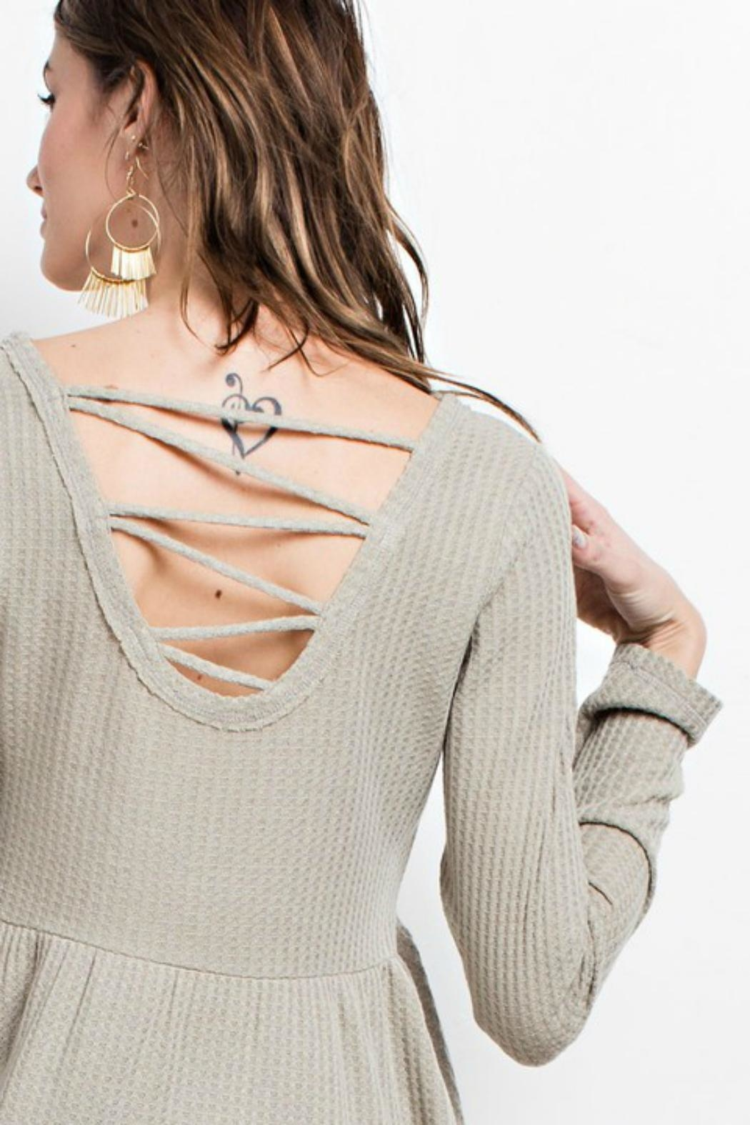 easel Sage Cross-Back Tunic - Side Cropped Image
