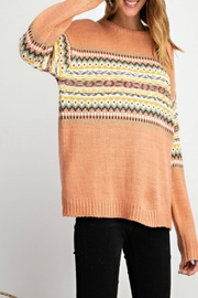 easel Secret-Hearts Pullover Sweater - Product Mini Image