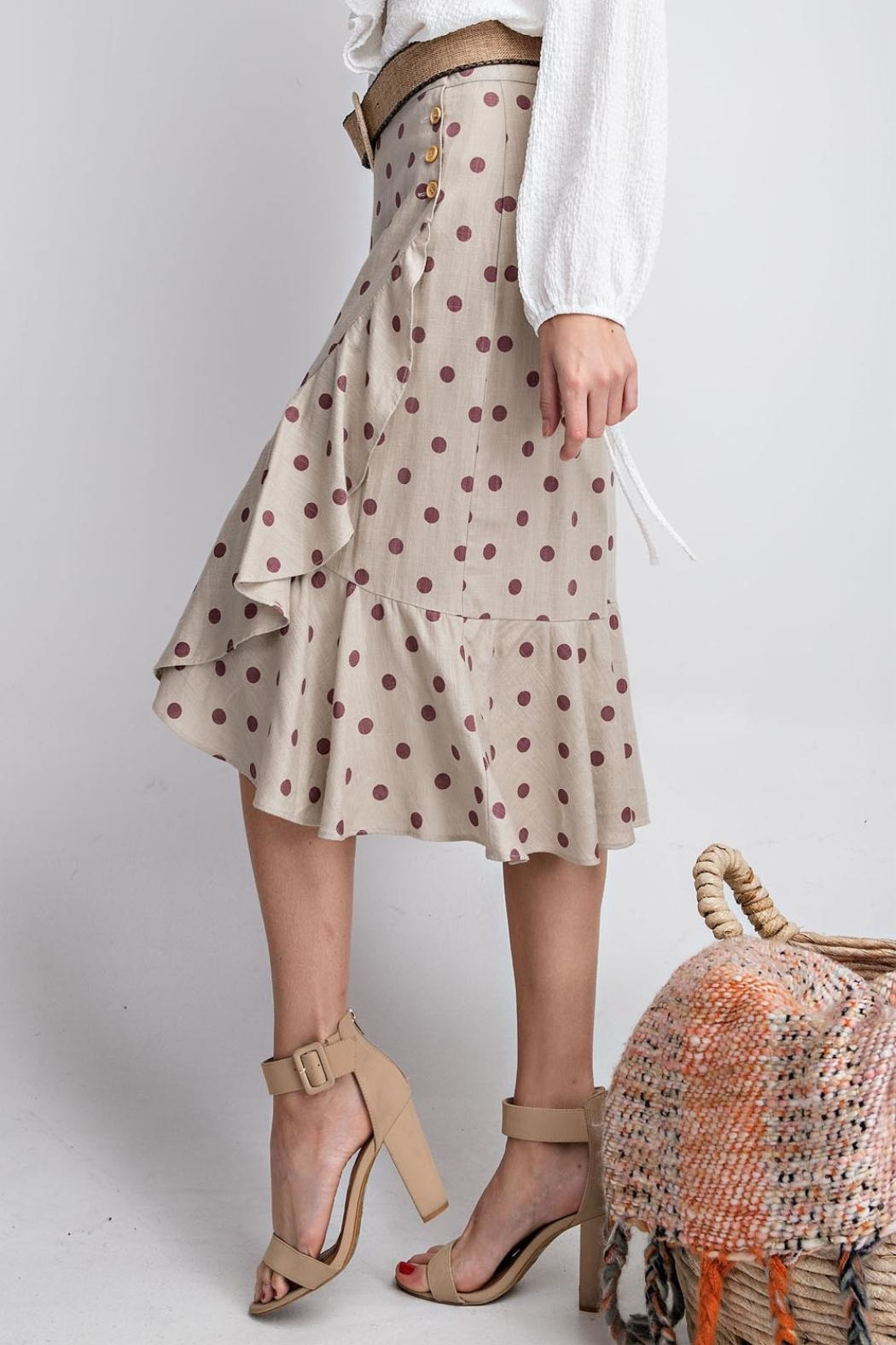 easel Seeing Spots Skirt - Back Cropped Image