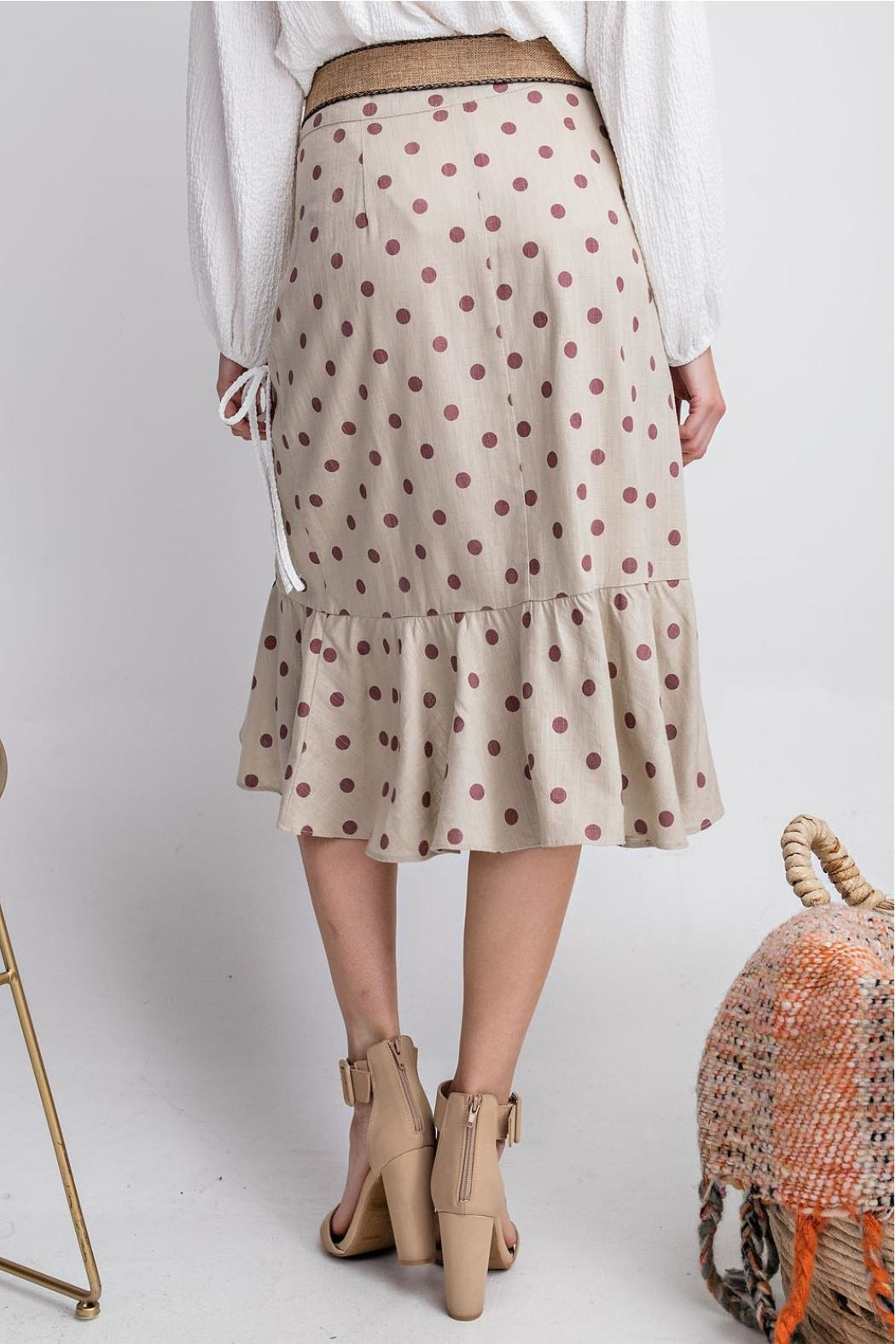easel Seeing Spots Skirt - Side Cropped Image