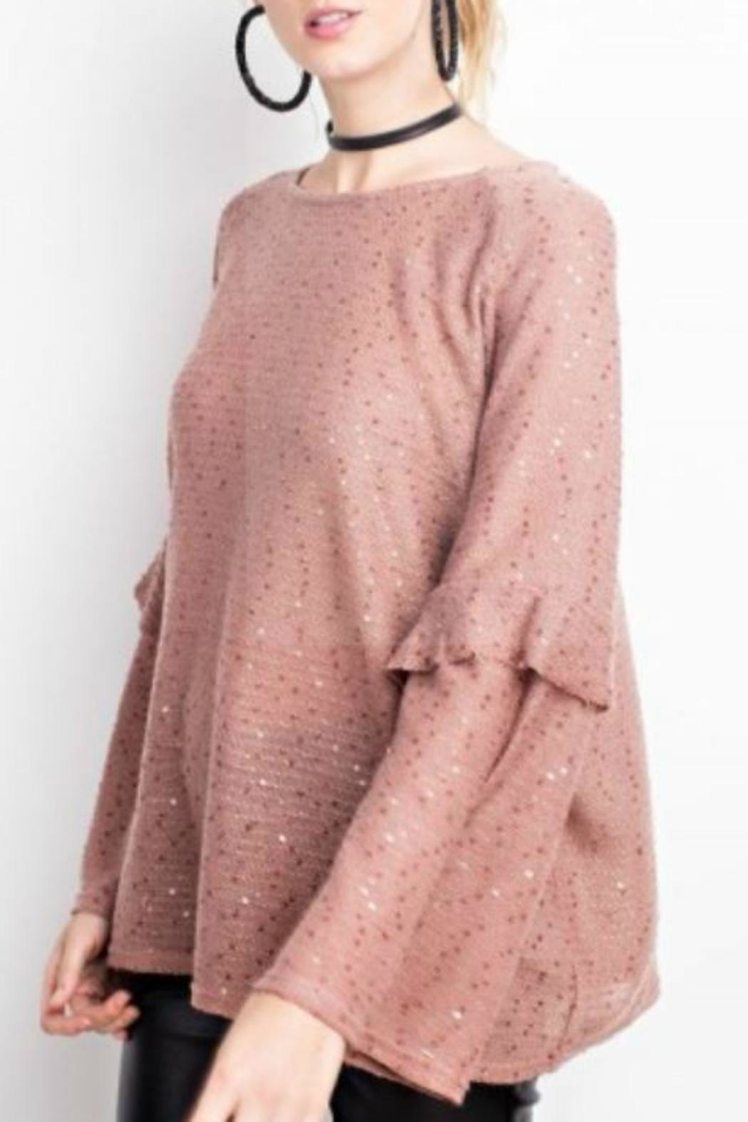 easel Sequin Sweater - Front Full Image