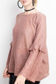 easel Sequin Sweater - Front full body