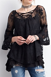 easel Sheer Lace Top - Product Mini Image
