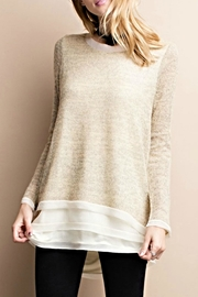 easel Silk Hem Sweater - Product Mini Image