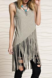 easel Sleeveless Fringe Top - Product Mini Image
