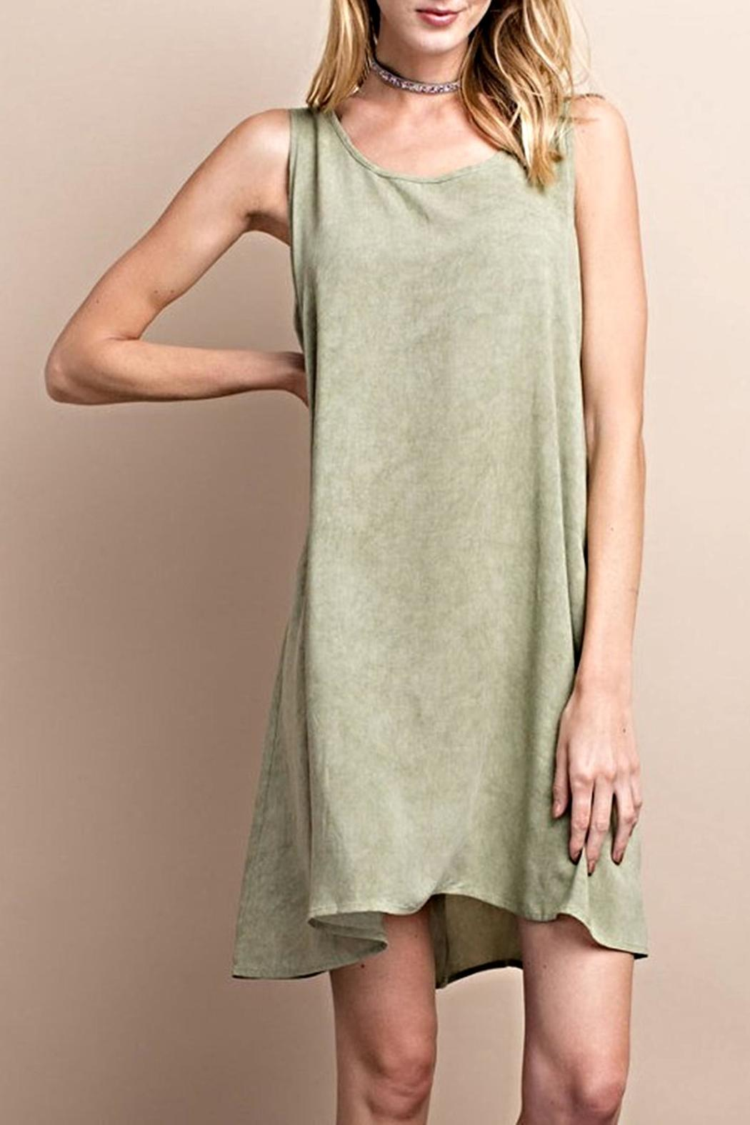 easel Sleeveless Tieback Dress - Main Image