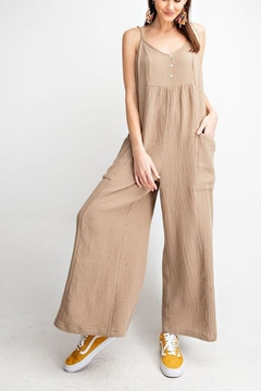 easel Sleeveless Wide Pants Jumpsuit - Product List Image