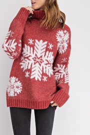 easel Snowflake Turtleneck Sweater - Product Mini Image