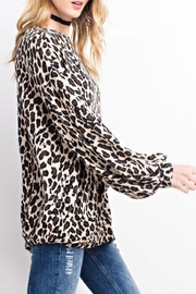 easel Soft Leopard Top - Side cropped