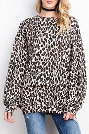 easel Soft Leopard Top - Front cropped