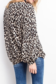 easel Soft Leopard Top - Front full body