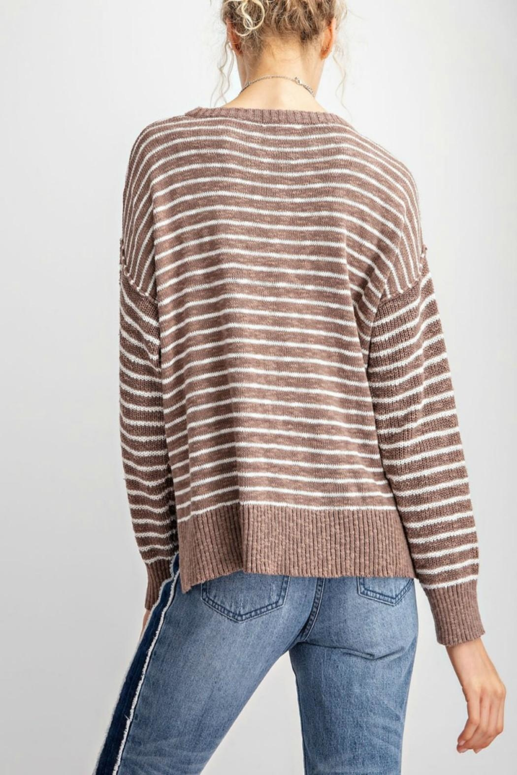 easel Soft Striped Sweater - Front Full Image