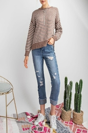 easel Soft Striped Sweater - Other