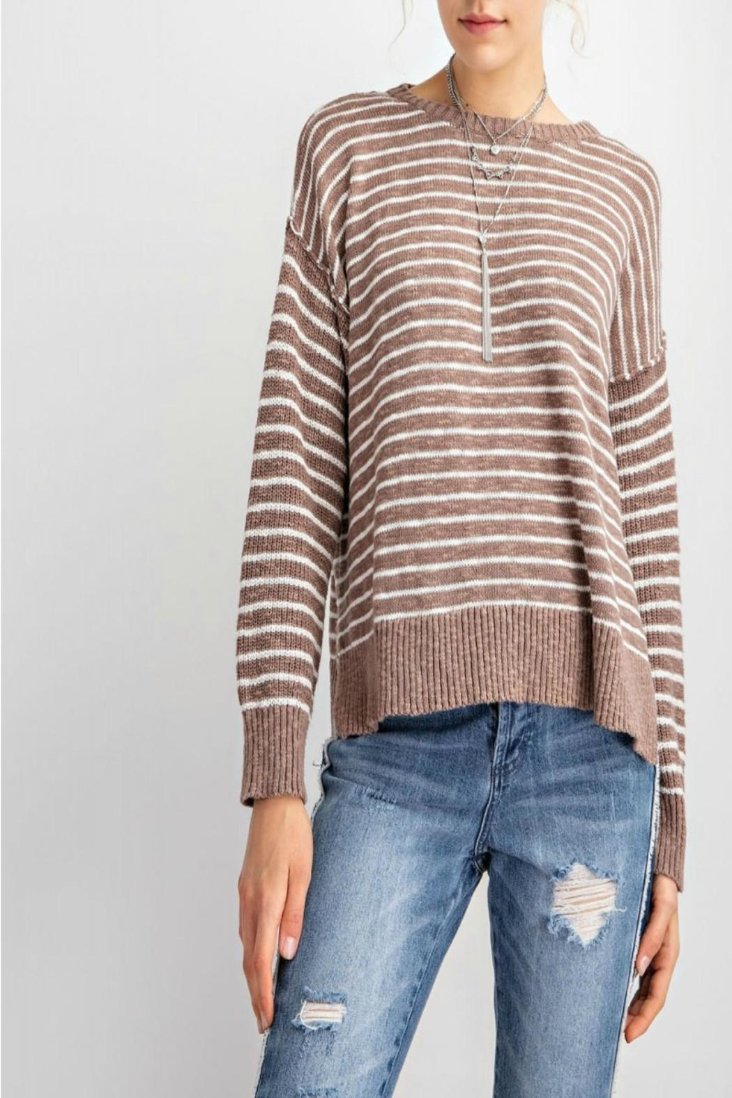 easel Soft Striped Sweater - Main Image