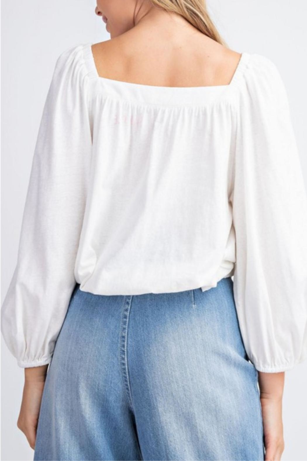 easel Square Neck Top - Side Cropped Image
