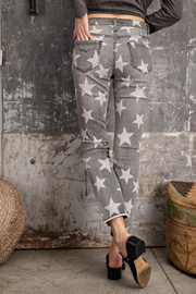 easel Star-Print Distressed-Denim Pants - Front full body