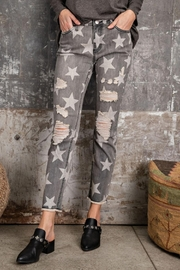 easel Star-Print Distressed-Denim Pants - Side cropped