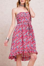 easel Strapless Floral Dress - Product Mini Image