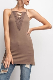 easel Stretchy Lace-Up Cami - Product Mini Image
