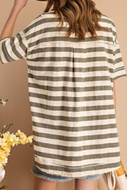 easel Striped Boxy Top - Front full body