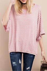 easel Striped Oversized Top - Product Mini Image
