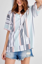 easel Striped Terry Knit Pullover - Product Mini Image