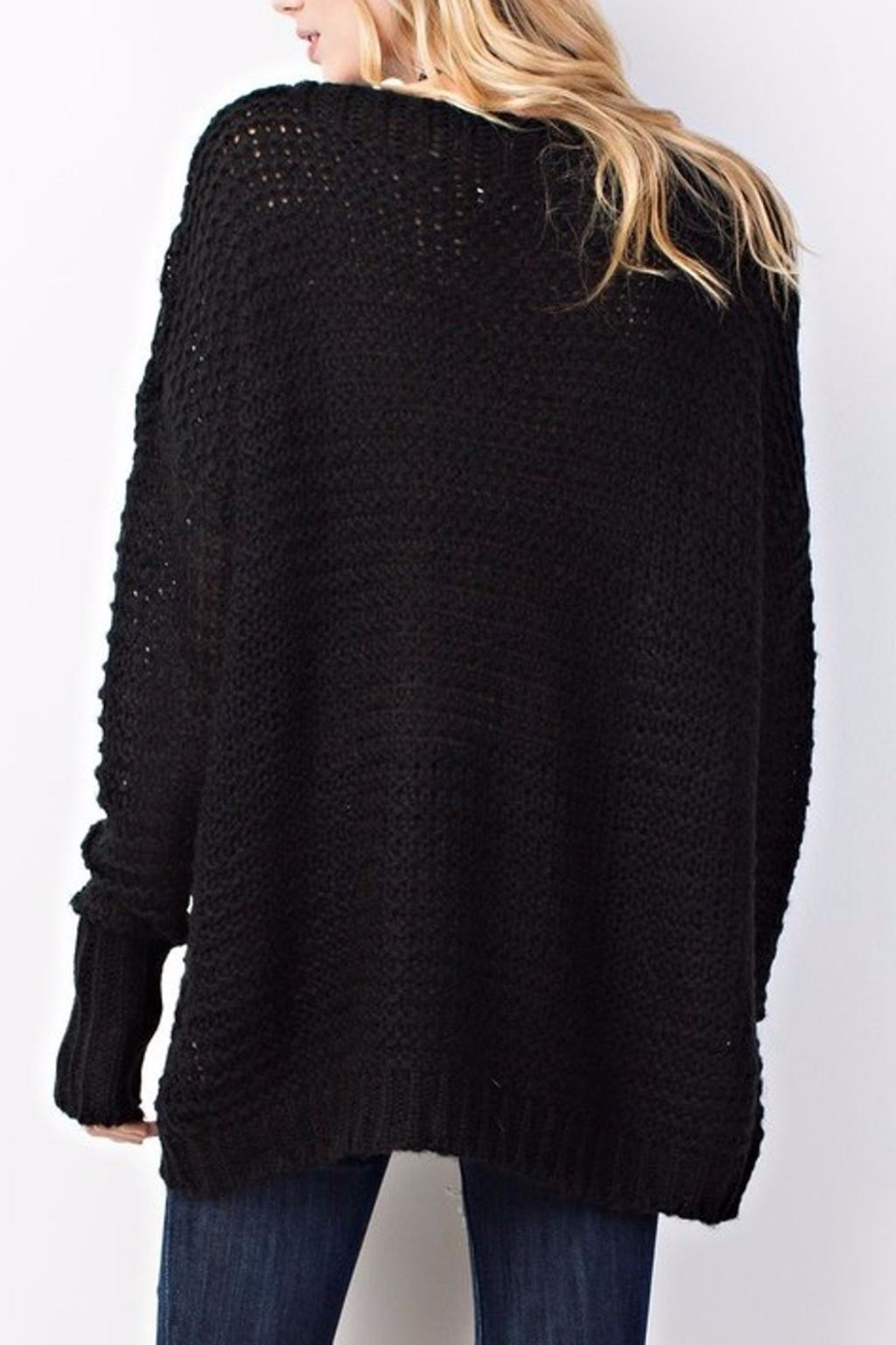 easel Sweater Knit Tunic - Front Full Image