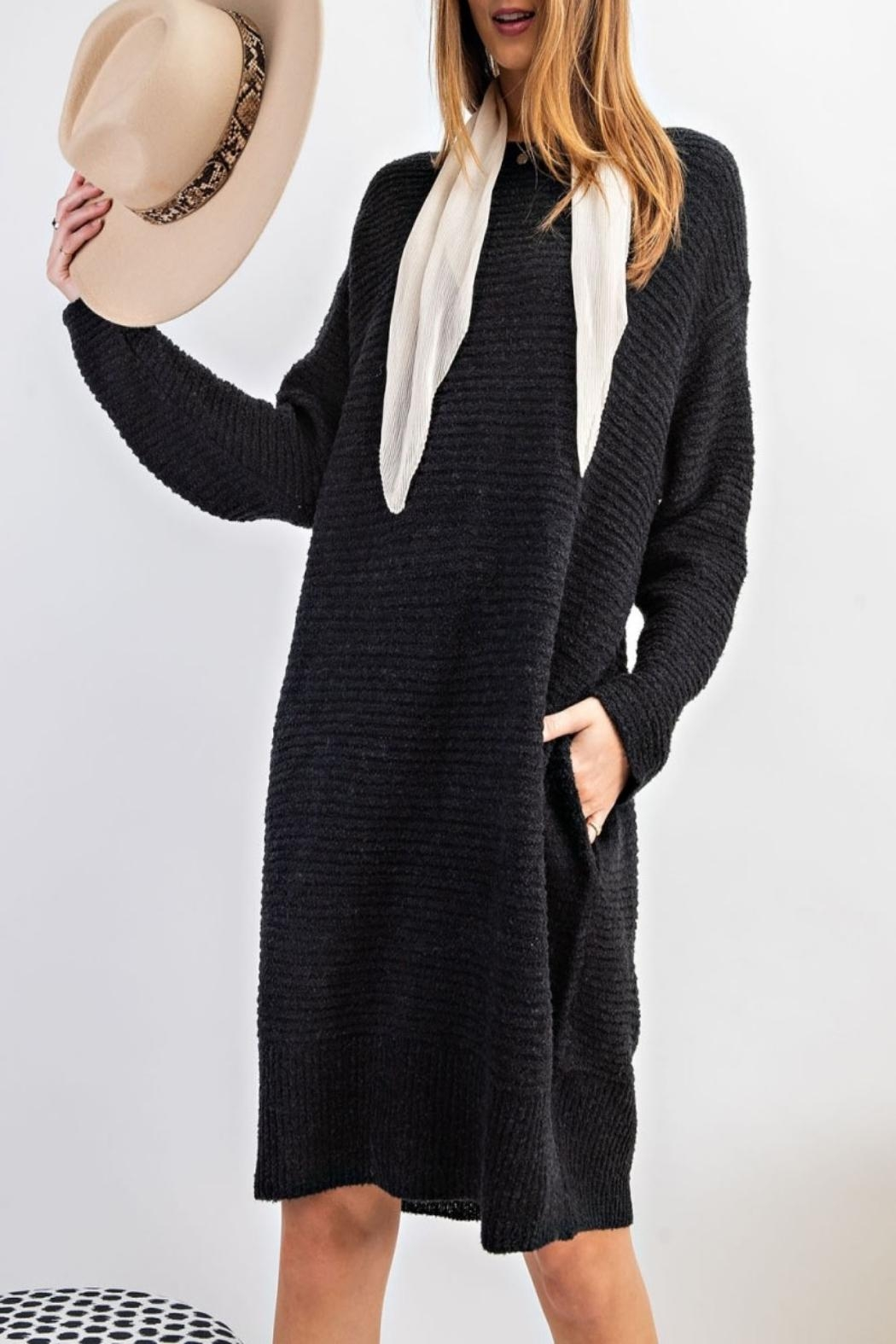 easel Sweater Tunic Dress - Side Cropped Image