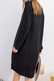 easel Sweater Tunic Dress - Front full body