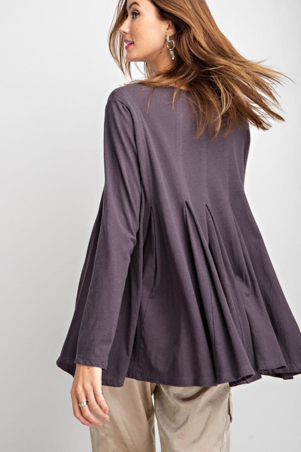 easel Swingy Tunic Top - Side Cropped Image