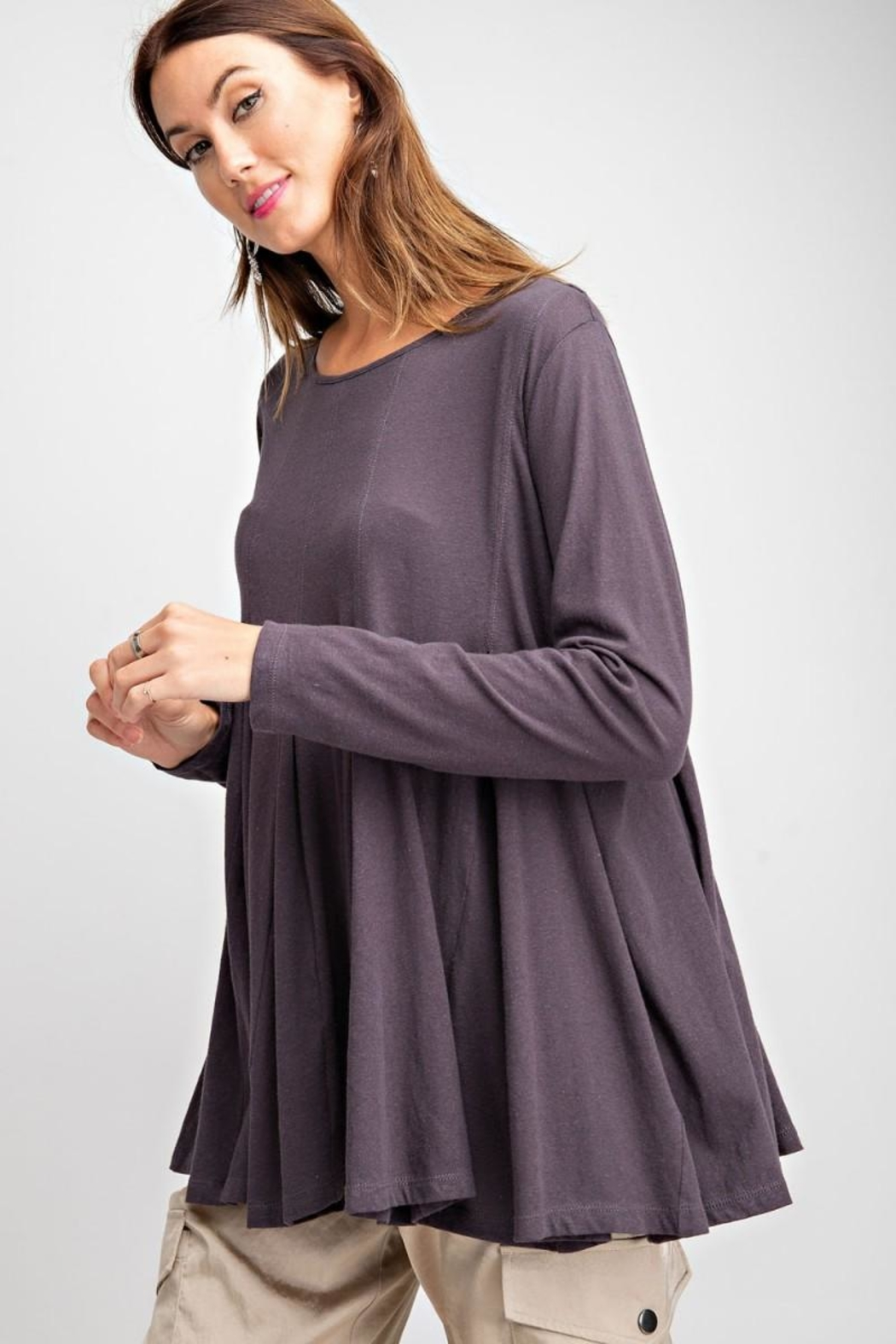 easel Swingy Tunic Top - Front Full Image
