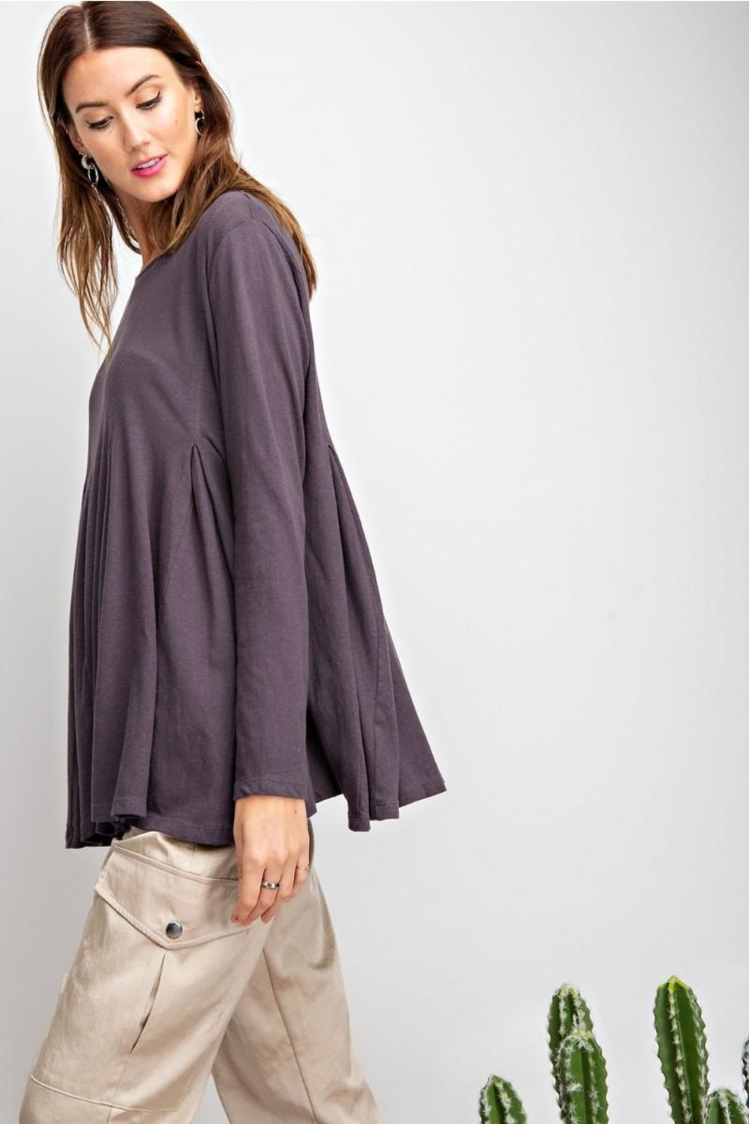 easel Swingy Tunic Top - Back Cropped Image