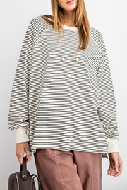 easel Taylor Striped Pullover - Product Mini Image