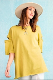easel Terry Knit Top - Front full body